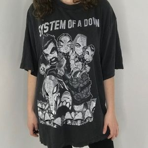 Other - System of a Down Distressed Cartoon Graphic Shirt